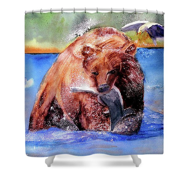 Catching Dinner Shower Curtain