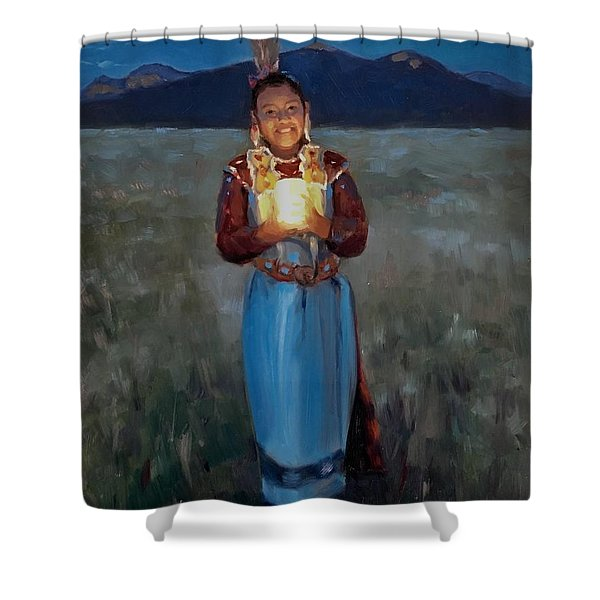Catching The Moon Shower Curtain