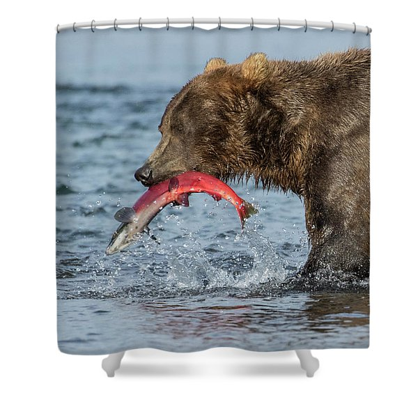 Catching The Prize Shower Curtain