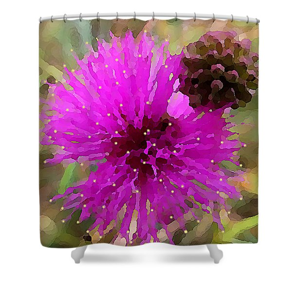 Catclaw Pink Mimosa  Shower Curtain