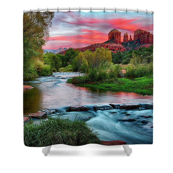 Cathedral At Sunset Shower Curtain