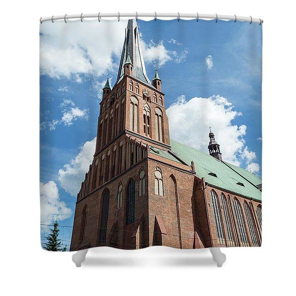 Cathedral Basilica Of St. James The Apostle, Szczecin A Shower Curtain