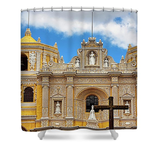Cathedral In Antigua, Guatemala Shower Curtain