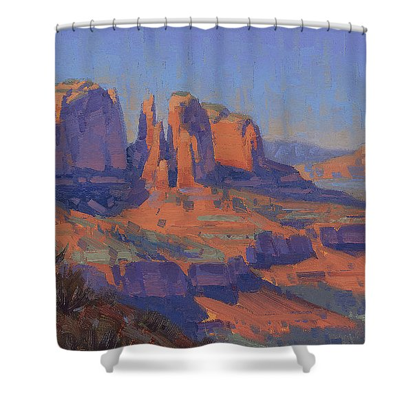 Cathedral In The Heat Shower Curtain
