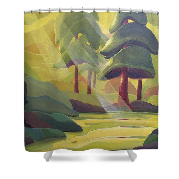 Cathedral Light Shower Curtain