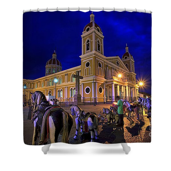 Cathedral Of Granada Shines Brightly Shower Curtain