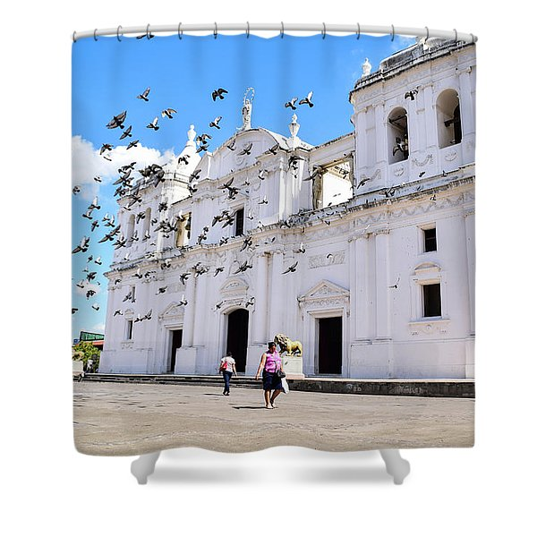 Cathedral Of Leon Shower Curtain