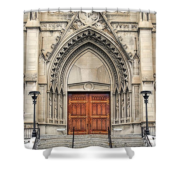 Cathedral Of St Helena Shower Curtain