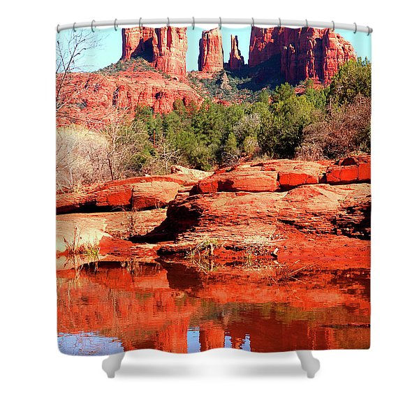 Cathedral Reflections 2 Shower Curtain