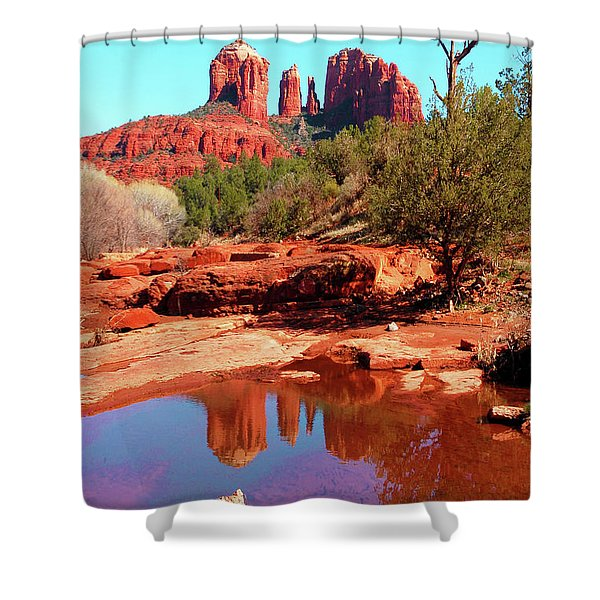 Cathedral Reflections Shower Curtain