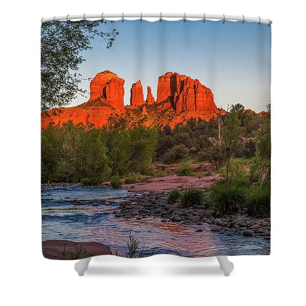 Cathedral Rock At Red Rock Crossing Shower Curtain