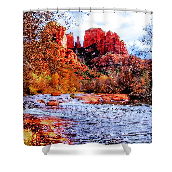 Cathedral Rock Shower Curtain