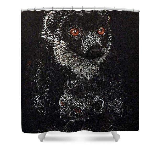 Catherina And Baby Abby Shower Curtain