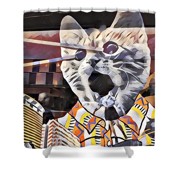 Cats On Congress Shower Curtain