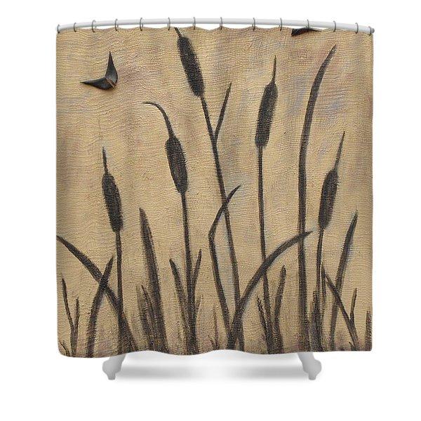 Cattails 2 Shower Curtain