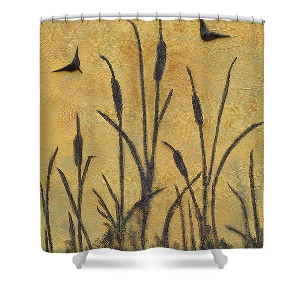 Cattails I Shower Curtain
