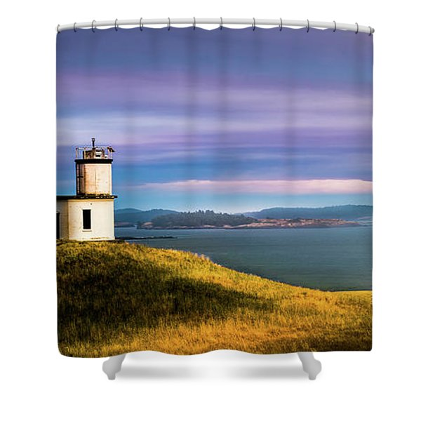 Cattle Point Lighthouse Shower Curtain