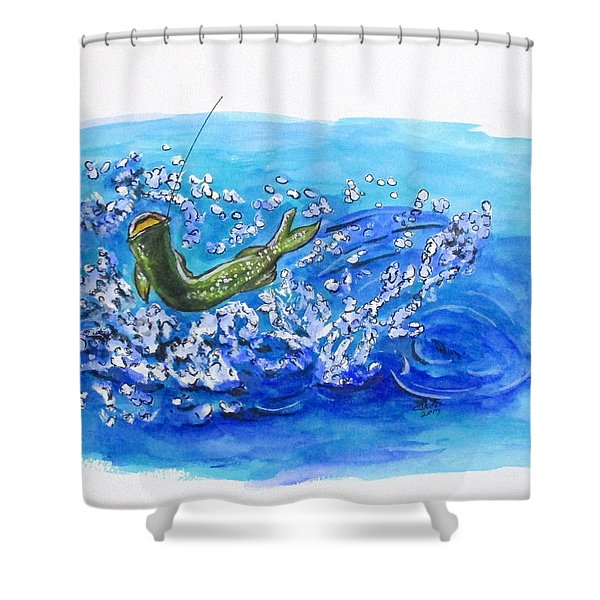 Caught Fish Shower Curtain
