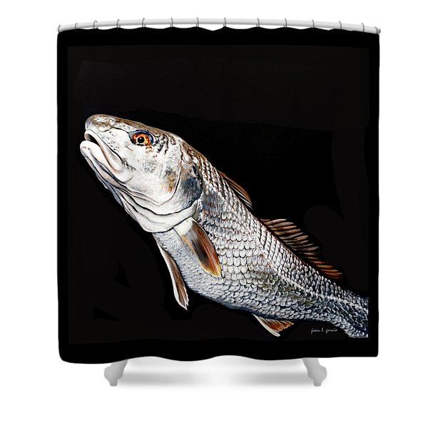 Caught In The Surf Redfish Shower Curtain