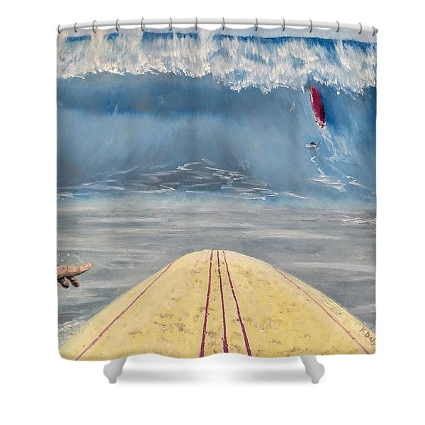 Shower Curtain featuring the painting Caught Inside by Kevin Daly