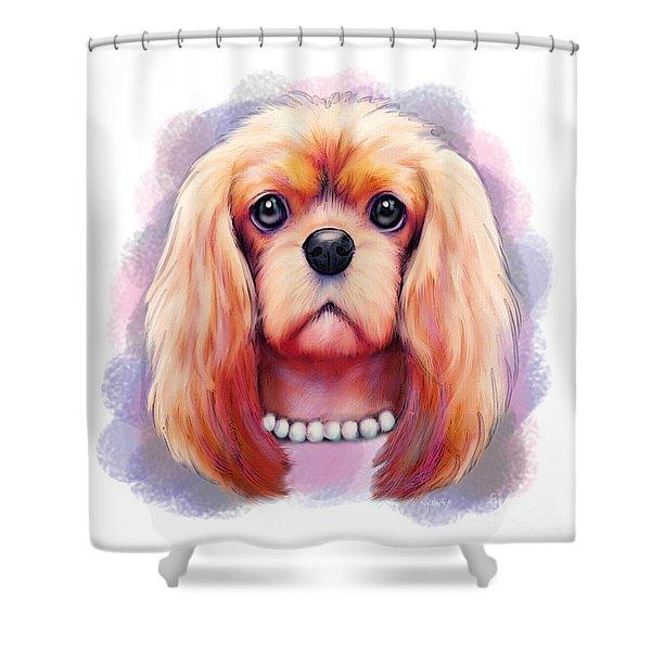 Cavalier Pearls  Shower Curtain
