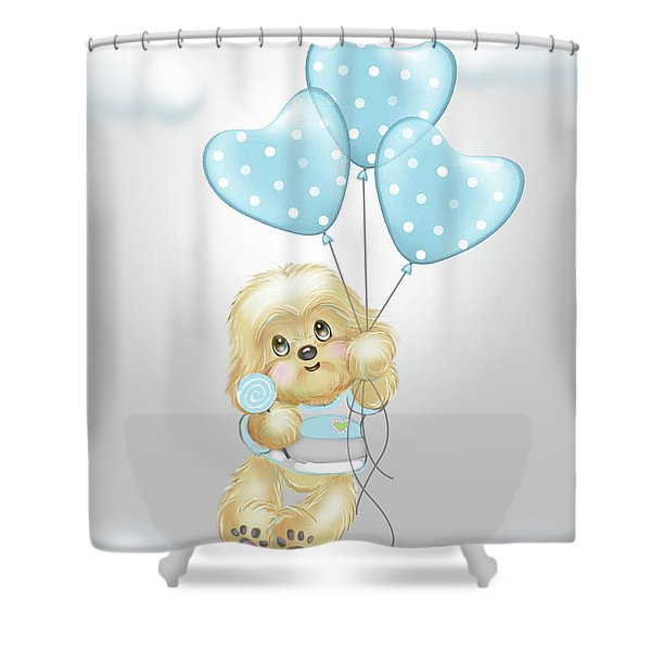 Cavapoo Toby Baby Shower Curtain