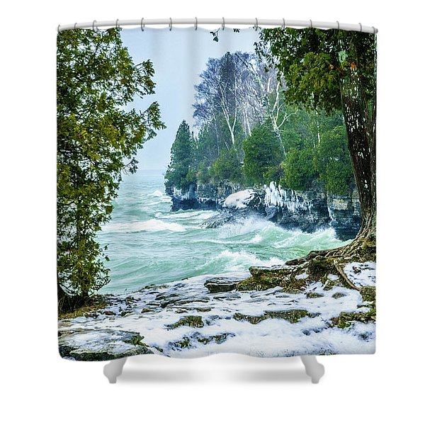 Cave Point #5 Shower Curtain