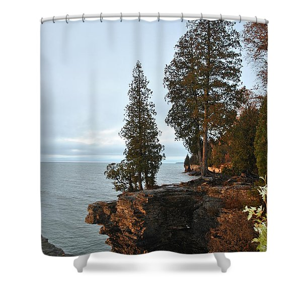 Cave Point Shower Curtain