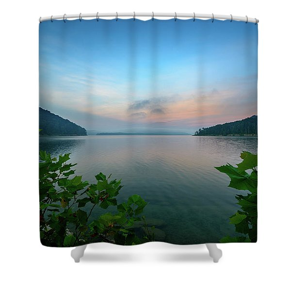 Cave Run Morning Shower Curtain