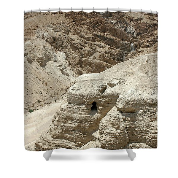 Caves Of The Dead Sea Scrolls Shower Curtain