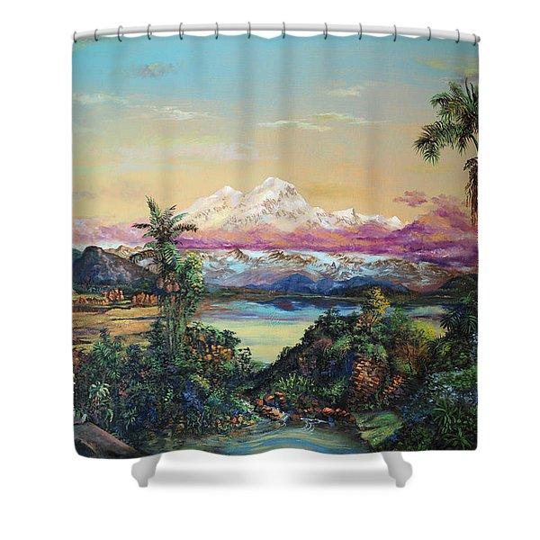 Cayambe-ish Shower Curtain