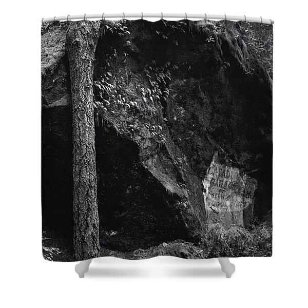 Cazadero, Ca  Vintage Sign Shower Curtain