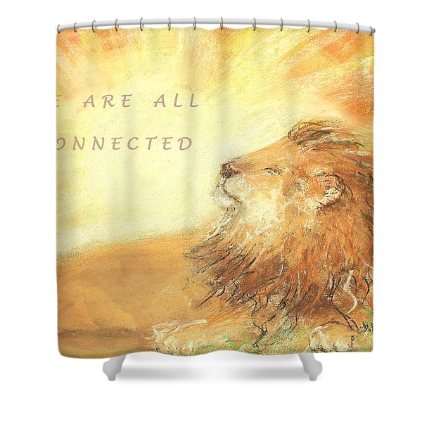 Cecil The Lion Shower Curtain