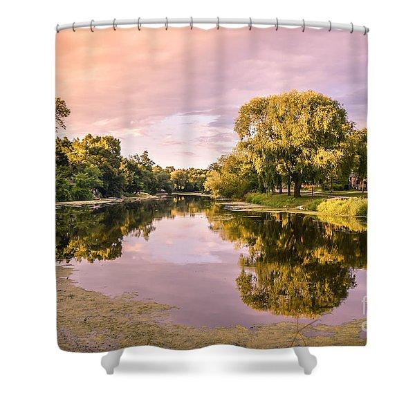 Cedar Creek - Early Evening Shower Curtain