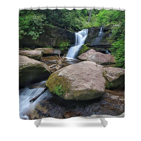 Cedar Rock Falls Shower Curtain