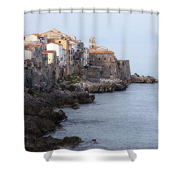 Cefalu, Sicily Italy Shower Curtain