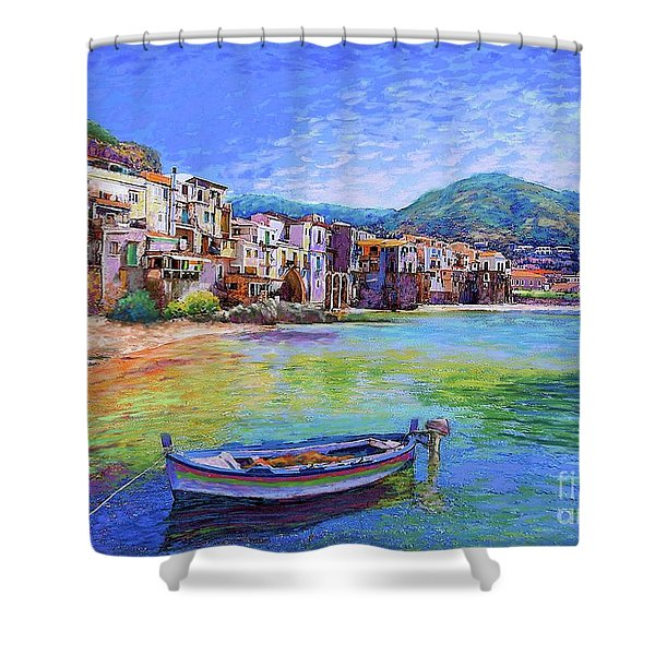 Cefalu Sicily Italy Shower Curtain
