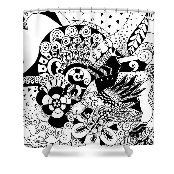 Ceilings And Floors 2 Shower Curtain