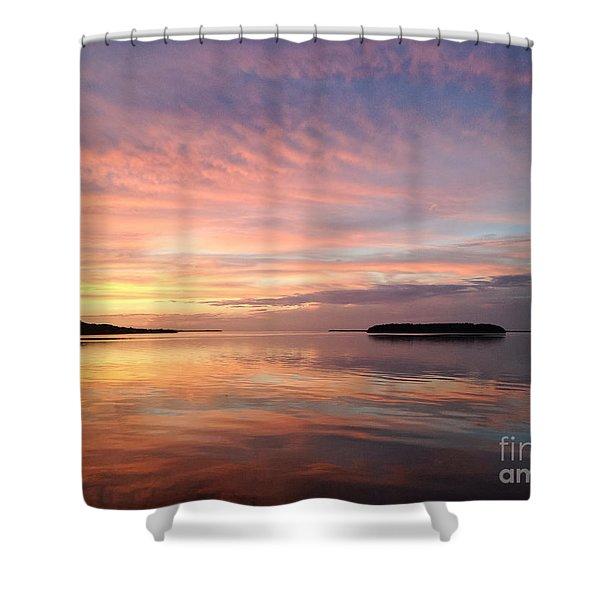 Celebrating Sunset In Key Largo Shower Curtain