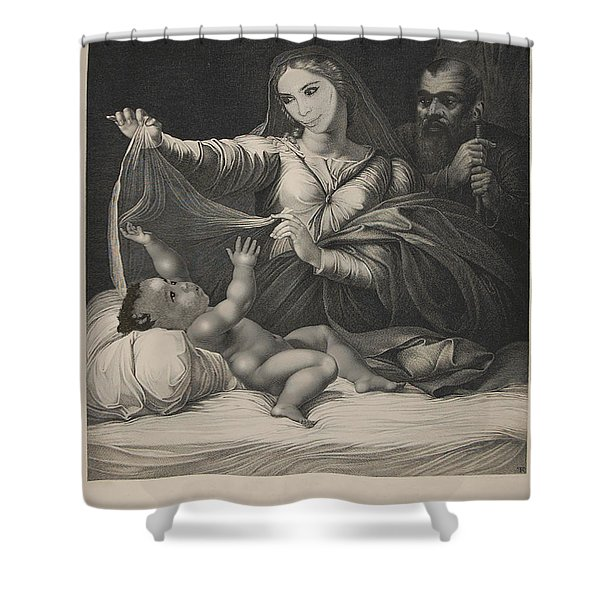 Celebrity Etchings - North Kim And Kanye Shower Curtain