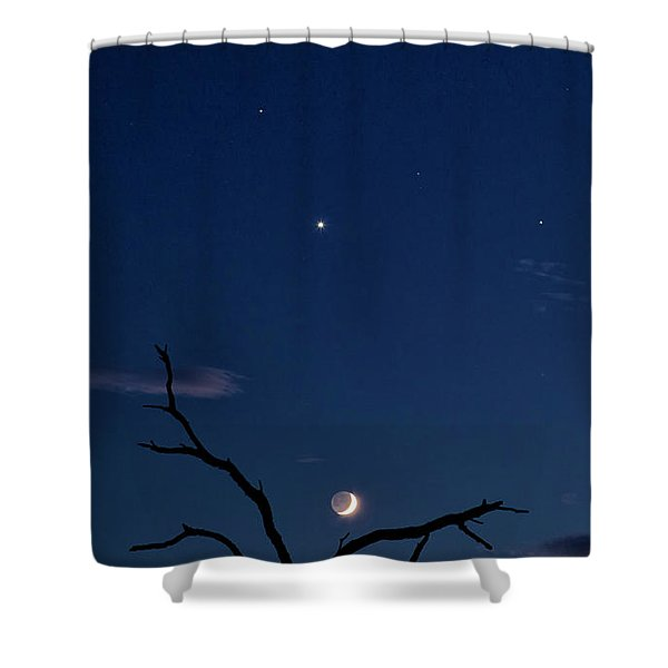 Celestial Alignment Shower Curtain