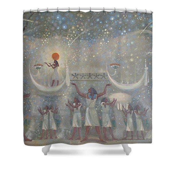 Celestial Cow Shower Curtain