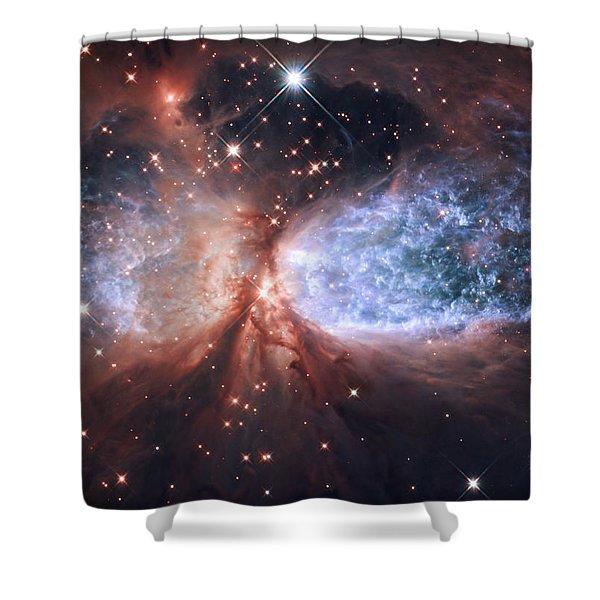 Celestial Snow Angel Shower Curtain