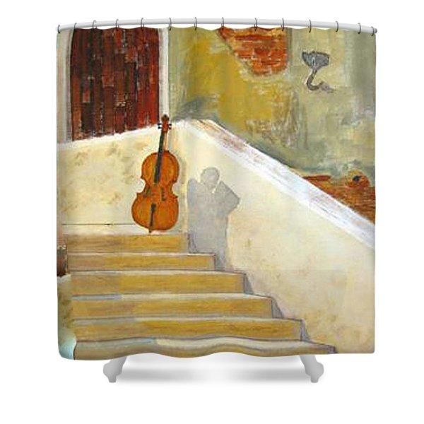 Cello No 3 Shower Curtain