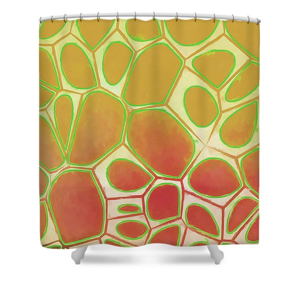 Cells Abstract Five Shower Curtain