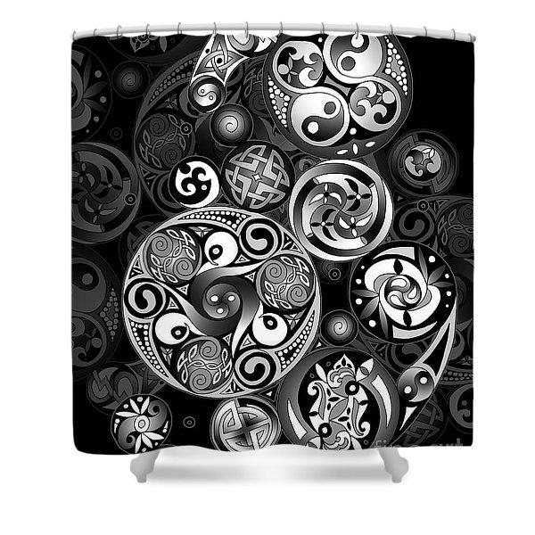 Celtic Clockwork Shower Curtain