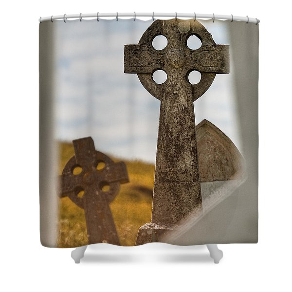 Celtic Crosses Shower Curtain
