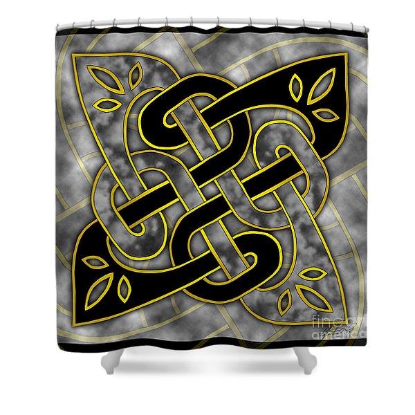 Celtic Dark Sigil Shower Curtain