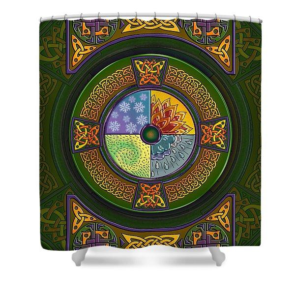 Celtic Elements Shower Curtain