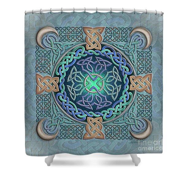 Celtic Eye Of The World Shower Curtain